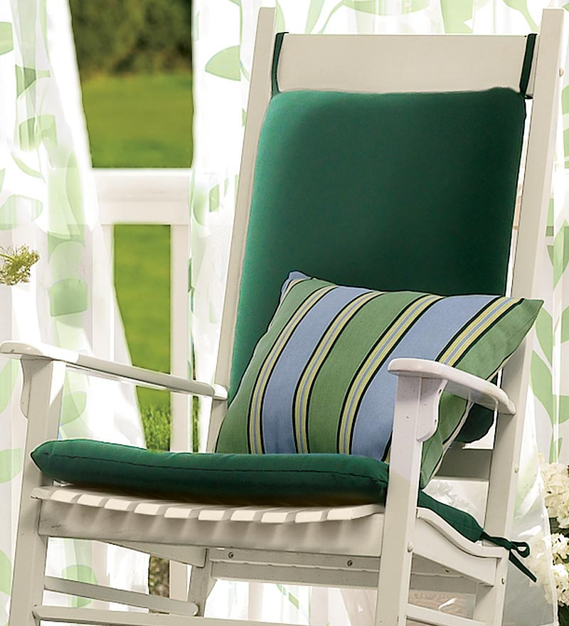 Chic Image of: Outdoor Rocking Chair Cushions Strips outdoor rocking chairs with cushions