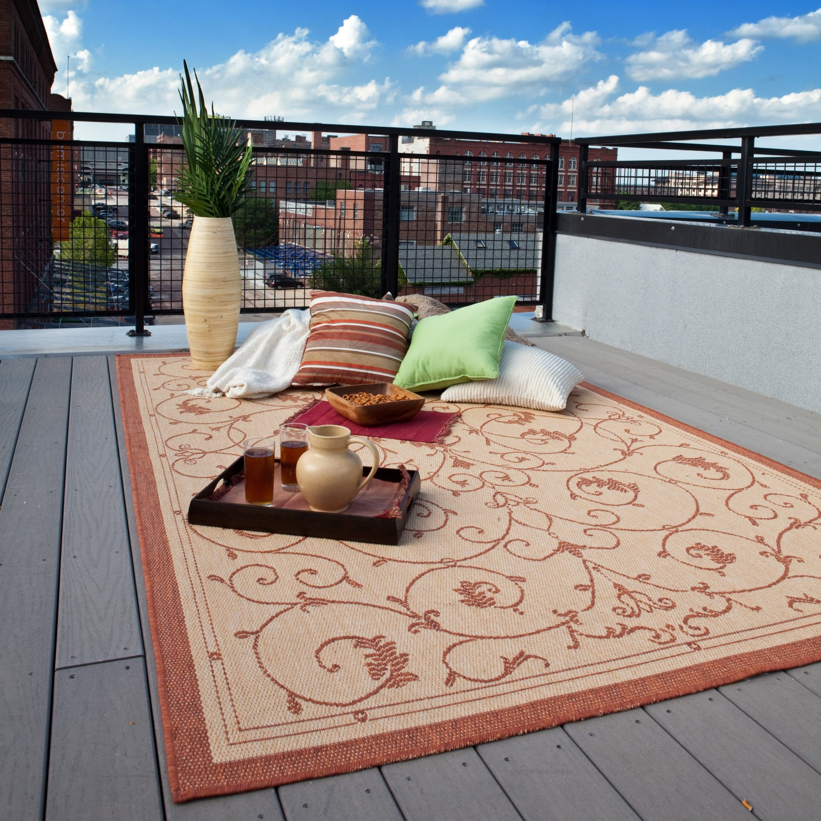 Cozy ... Flower Outdoor Rugs For Patios ... outdoor rugs for decks and patios
