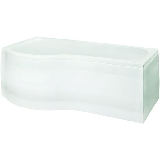 Unique ... Wickes P Shaped Shower Bath Front Panel White 1700mm. Mouse over image p shaped bath panel