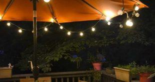 Stunning #DIY #Patio umbrella #lights patio umbrella lights