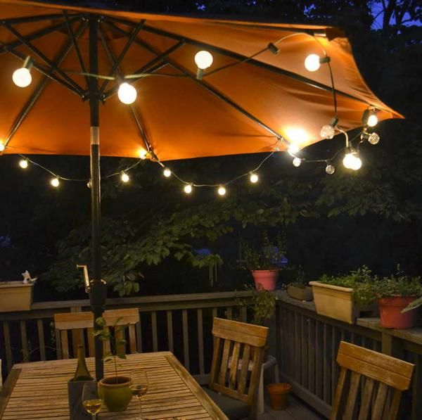 Stunning Diy Patio Umbrella Lights
