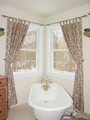 With Corner Curtain Rod You Won T Miss Decorating The