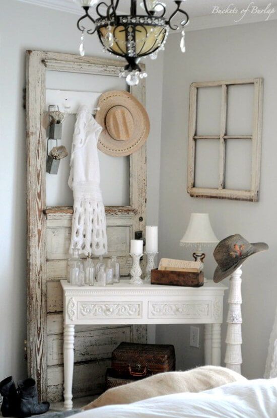 Photos of 27. Accessory Organizer Made From An Old Door Frame vintage bedroom decorating ideas