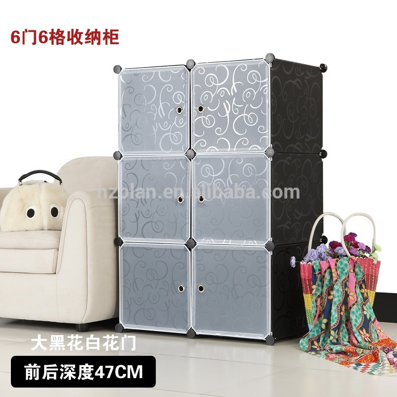 Photos of 6 Cube Diy Pp Plastic Shelf Organizer Clothes Cabinet Cloth Wardrobes - plastic racks for clothes