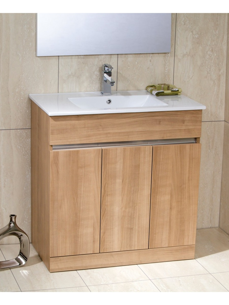 Photos of Athens Oak 80cm Vanity Unit Toledo Basin oak vanity unit