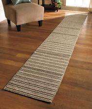 Photos of EXTRA-LONG NONSLIP STRIPED FLOOR RUNNER RUG SPICE SAND OR BLUE - 60 long runner rugs
