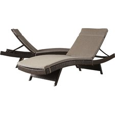 Photos of Ferrara Chaise Lounge with Cushion (Set of 2) outdoor chaise lounge chairs