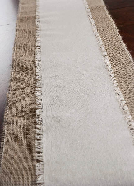 Photos of Fringed Edge Linen Table Runner u0026 Chair Sash 108in linen table runners