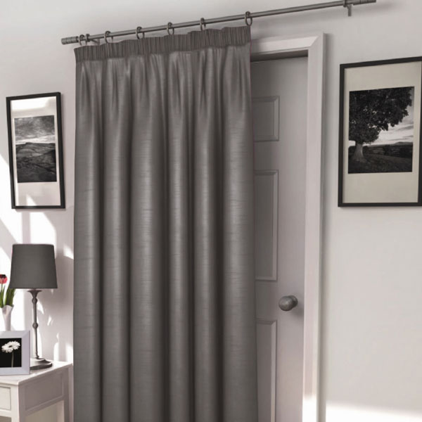 Photos of Harrow Silver Thermal Lined Door Curtain thermal door curtain