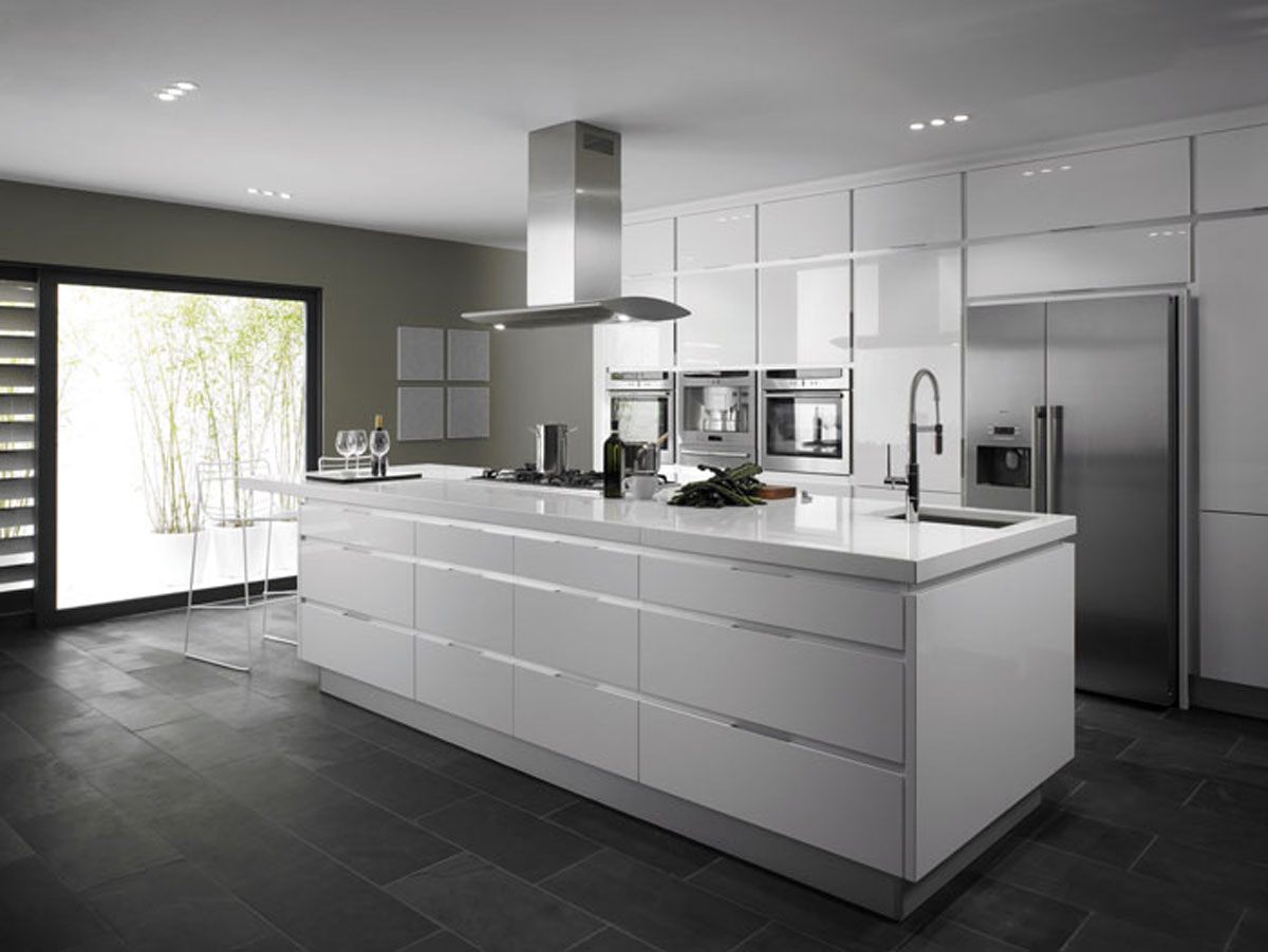 Photos of Kitchen inspiration: high gloss white kitchen works well in both modern and modern kitchen inspiration