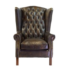 Photos of Moscow Leather Wingback Chair leather wing back chair