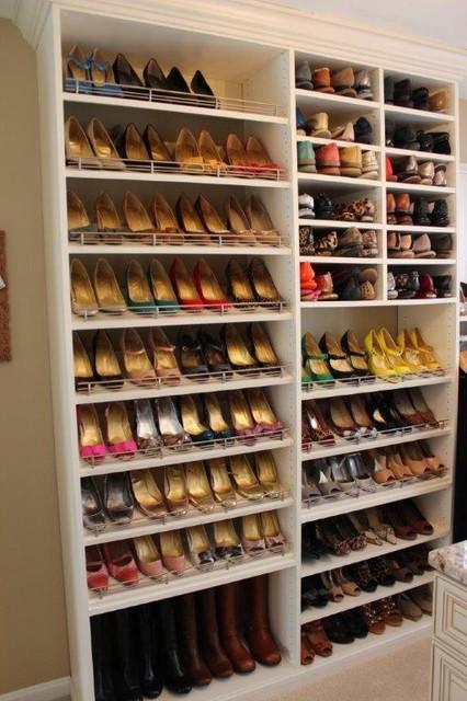Photos of Spectacular Shoe Storage contemporary-closet shoe rack for closet