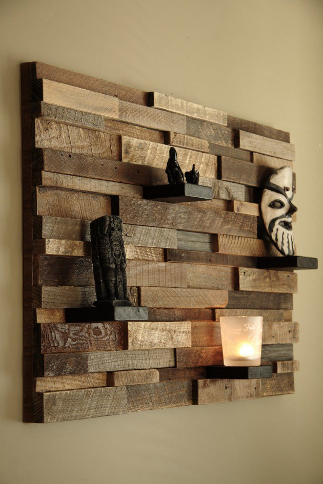 Pictures of 16 Magnificent Examples of Reclaimed Wood Wall Art reclaimed wood wall art