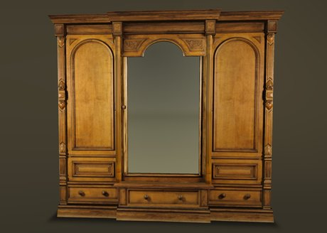 Pictures of Antique Wardrobe Late Victorian antique wardrobe with mirror