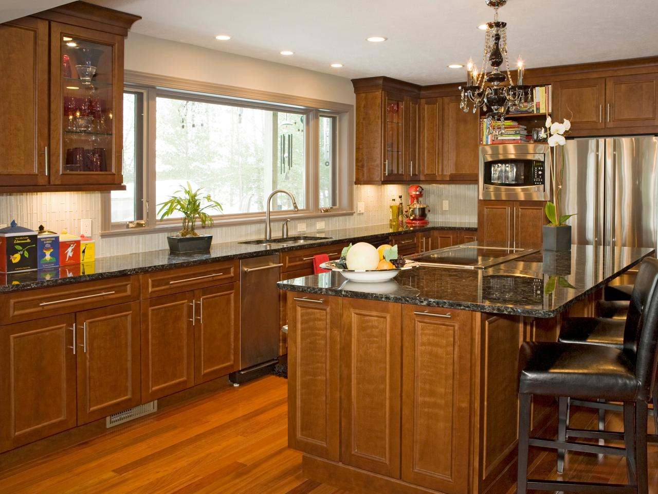 Pictures of Dark Wood Kitchen Cabinets With Patterned Backsplash kitchen cabinet design ideas