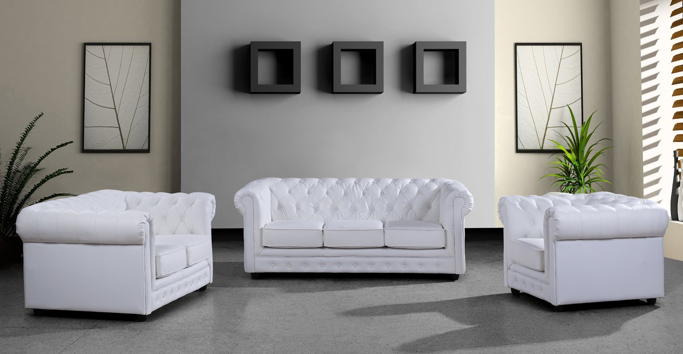 Pictures of More Views contemporary white leather sofa