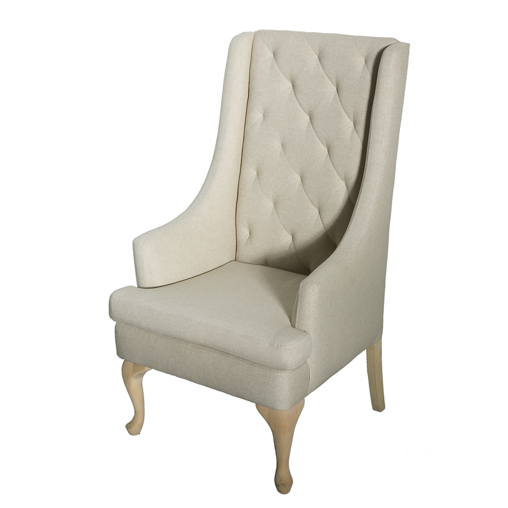 Awesome Upholstered Wingback Dining Chairs : pictures of oatmeal high back chair high back wing chair 3 from chairs52.com size 1000 x 1000 jpeg 334kB