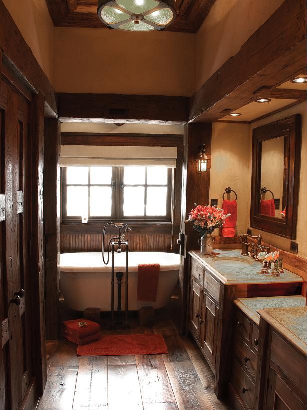 Pictures of Rustic Bathroom with Clawfoot Soaking Tub rustic bathroom decor ideas