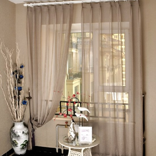 Pictures of Sheer curtains sheer curtain ideas for living room