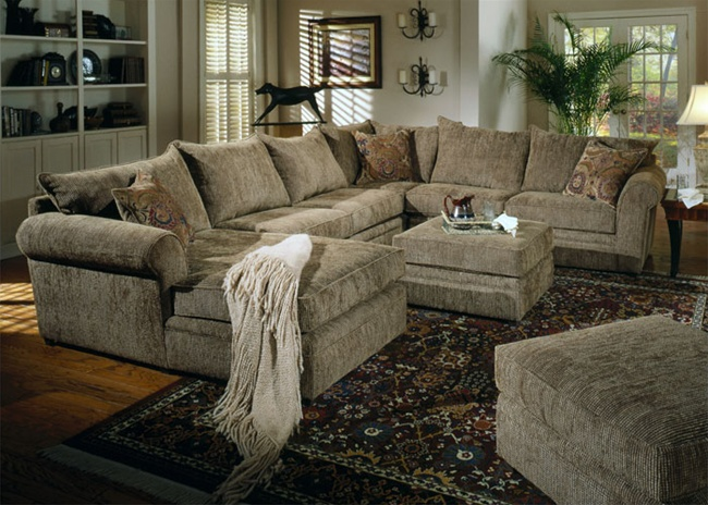 Pictures of Westwood 4-Piece Chenille Sectional by Coaster - 501001 chenille sectional sofa