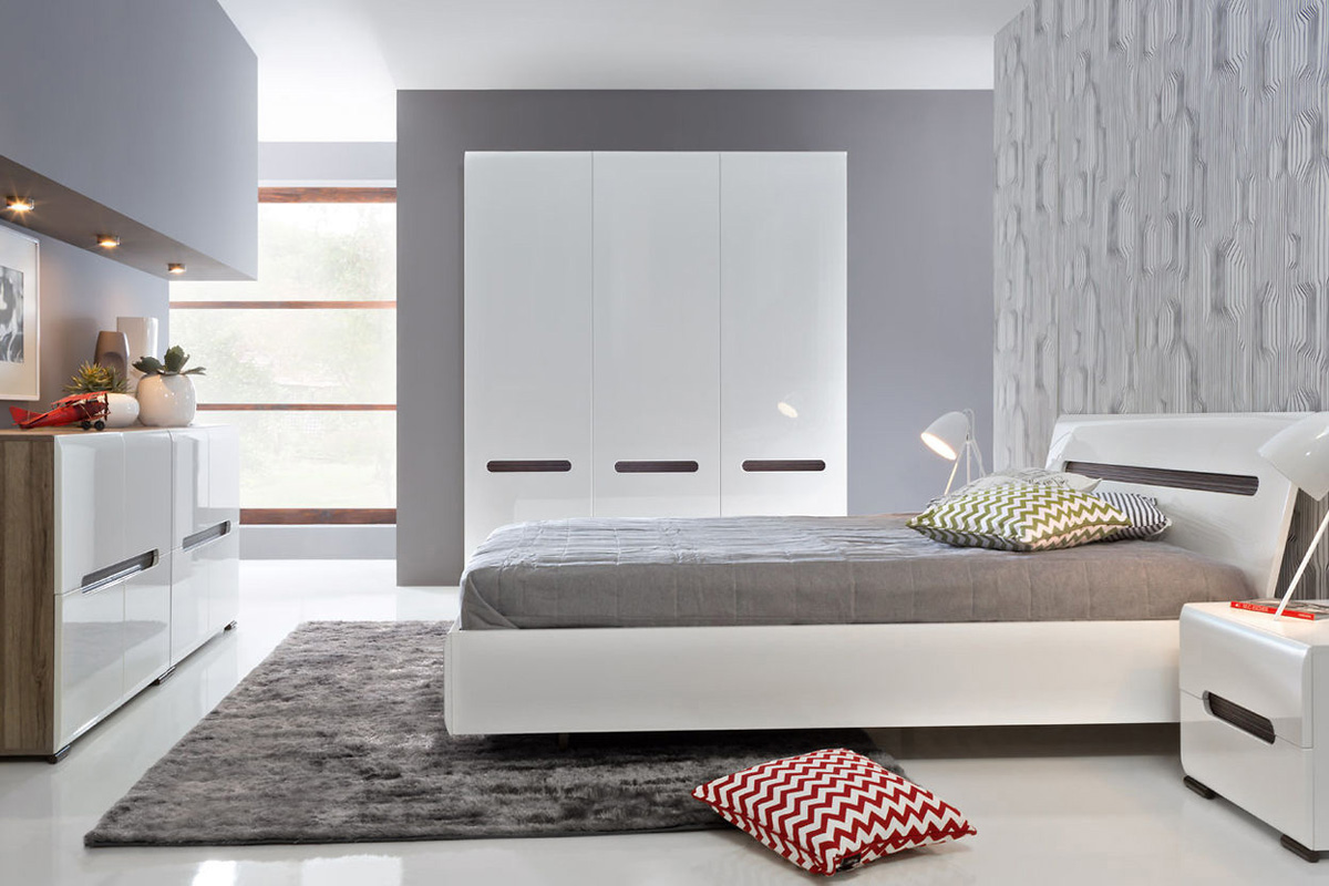 Pictures of White Gloss Bedroom Furniture Raya white gloss bedroom furniture sets