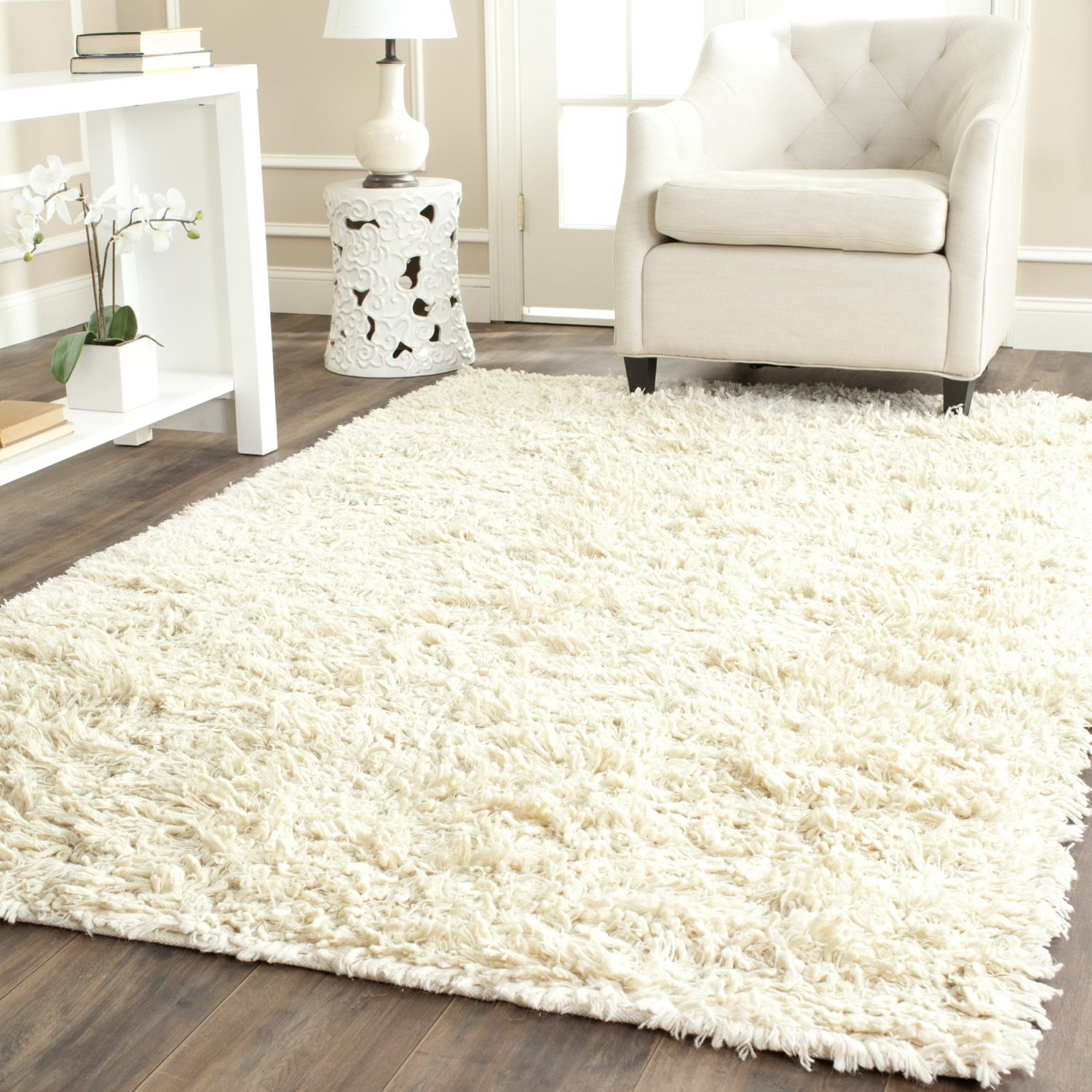 Beautiful Safavieh-Hand-Tufted-IVORY-Plush-Shag-Wool-Area- plush area rugs