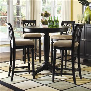 Popular American Drew Camden - Dark Bar Height Pedestal Table with Stools bar height pub table sets