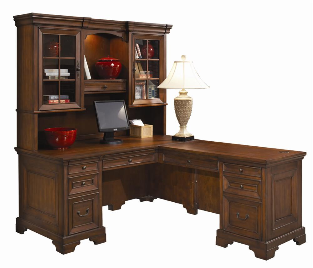 Popular Aspenhome Richmond Computer Desk and Return - Item Number: II40-307+8+ l shaped computer desk with hutch