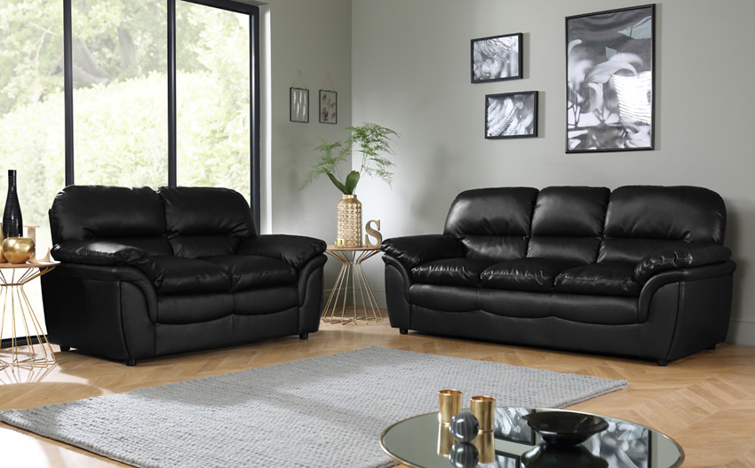 Furniture Leather Sofa Set Modern Leather Sofa Set In Grey Color Esf8049set Thesofa