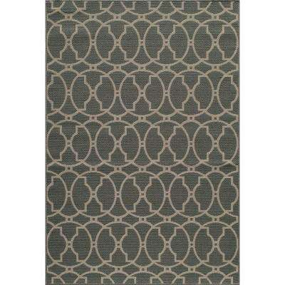 Popular Baja Grey 5 ft. 3 in. x 7 ft. 6 in. Indoor momeni outdoor rugs