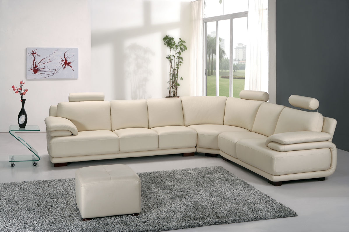 Por Corner Leather Sofa