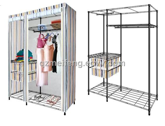 Popular Clothes Wardrobe--Metal Frame Wardrobe (99W125N) metal frame wardrobe