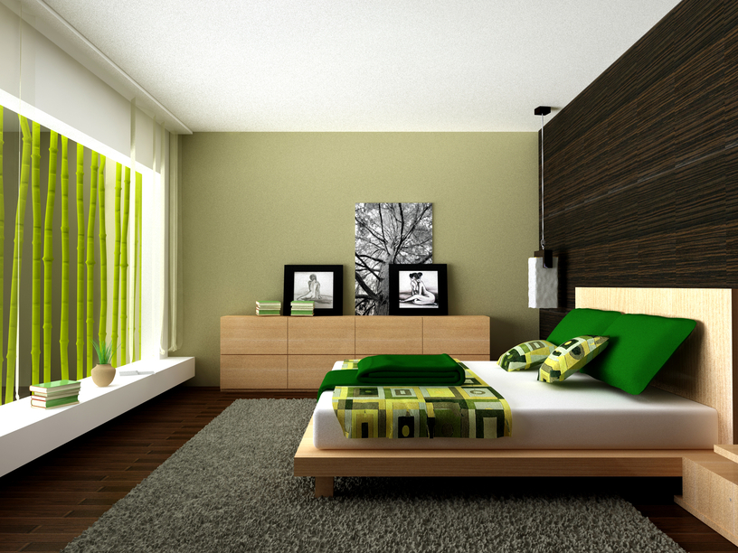 Popular Cool bedroom in sunken room with low wooden platform bed and white modern bedroom decor ideas