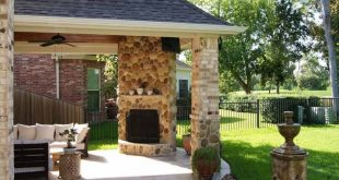 Popular Covered Patio Corner Fireplaces Ideas | Creative Fireplaces Design Ideas covered patio with fireplace