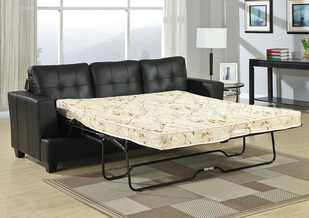 Popular Diamond Black Leather Sofa Bed black leather sofa bed