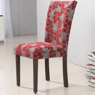 Popular Elegant Red Floral Parson Chair (Set of 2) patterned parsons chairs