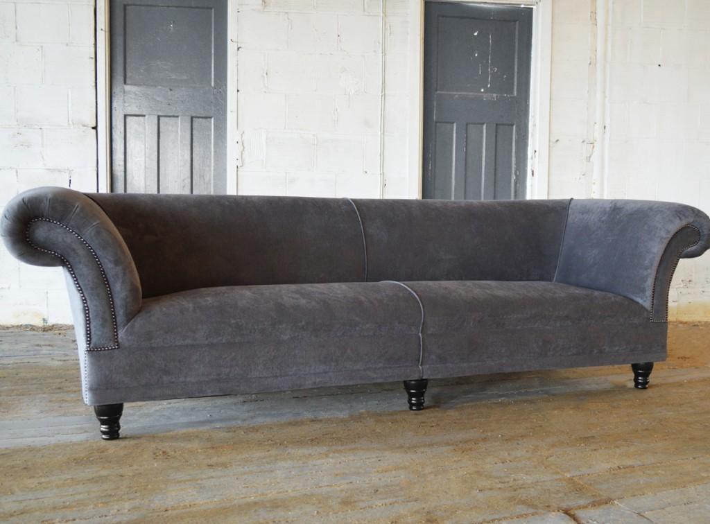 Popular Handmade Grey Marlow Velvet Chesterfield Sofa velvet chesterfield sofa
