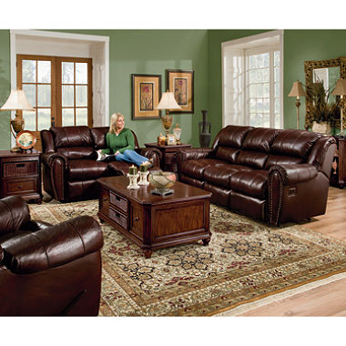 Popular Lane Sidney Leather Reclining Sofa Set - 3 pc. leather reclining sofa set
