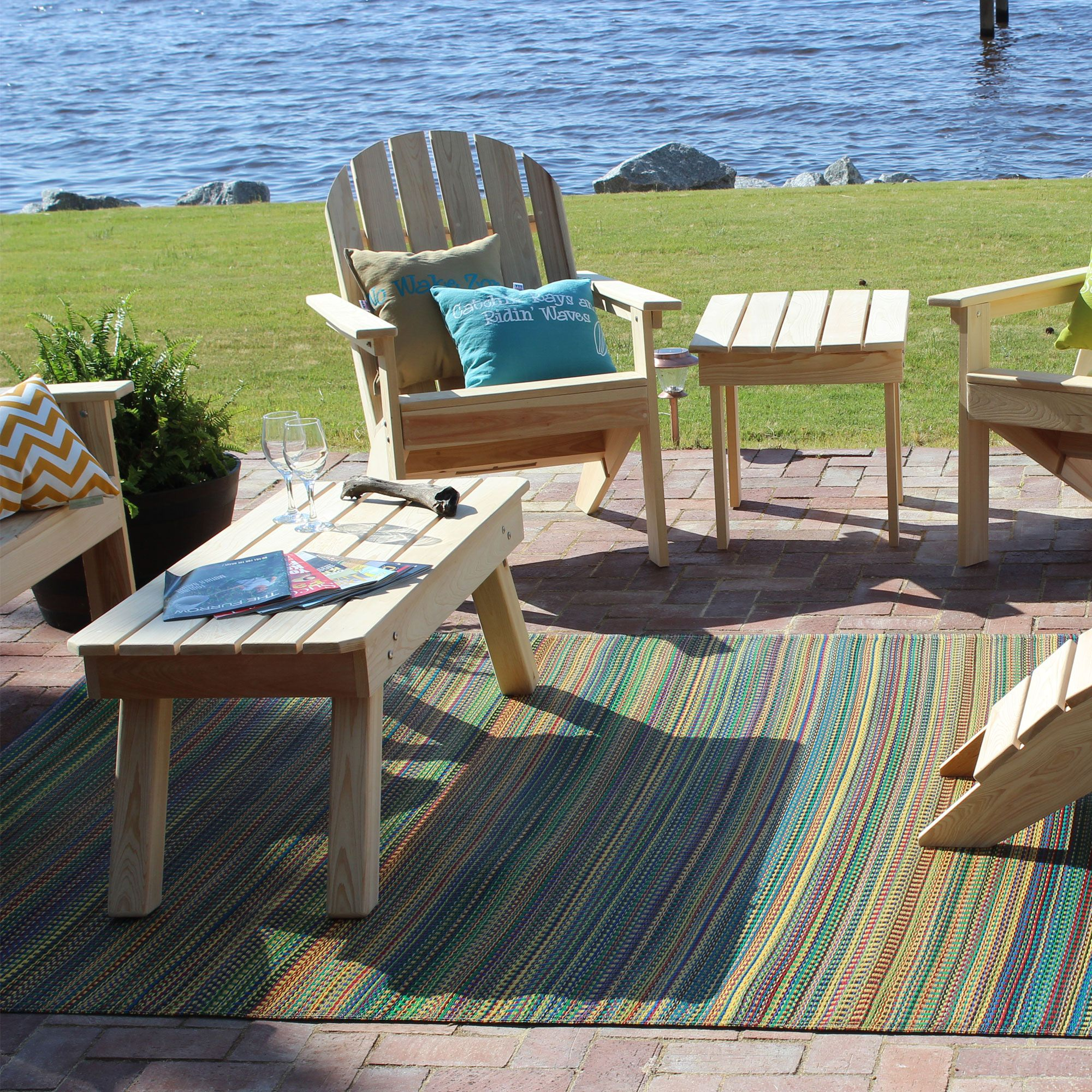 Popular Mixed Rainbow Tones Outdoor Mat outdoor rugs for decks and patios