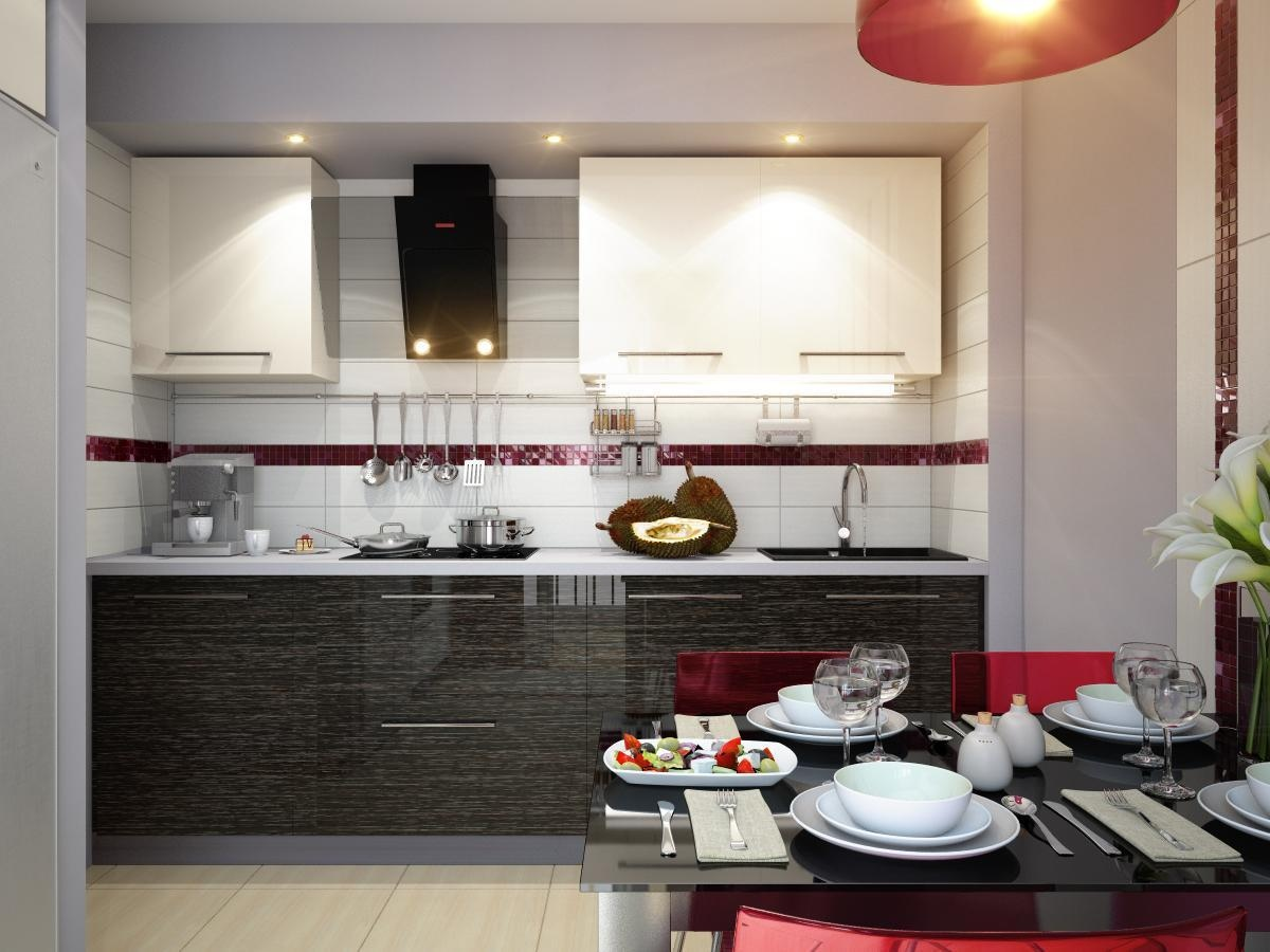 Popular ... New Modern Kitchen Themes In Red White Black Modern Kitchen Dining Decor modern kitchen theme ideas