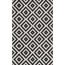 Popular Obadiah Hand-Tufted Black Area Rug black and white rug