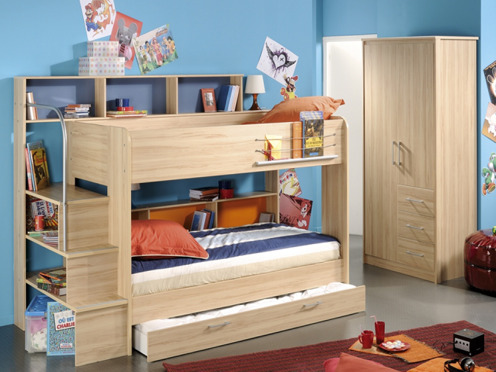 Popular Parisot Bibop Storage Bunk Bed u0026 Guest Bed | Kids Bunk Beds kids bunk beds with storage