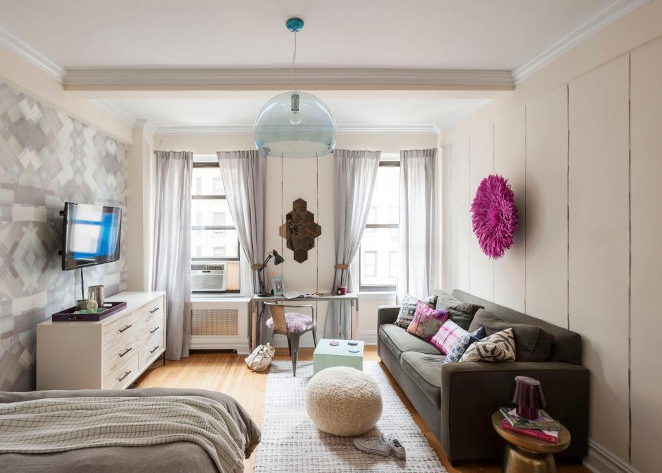 Popular Studio Design Ideas   HGTV interior design studio apartment