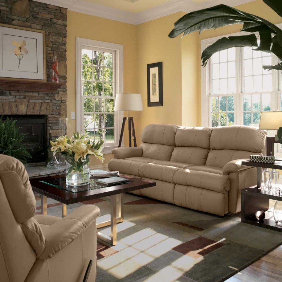 Popular The Best Information From House Decorating Sites Modern Cream Leather Sofa Sectional