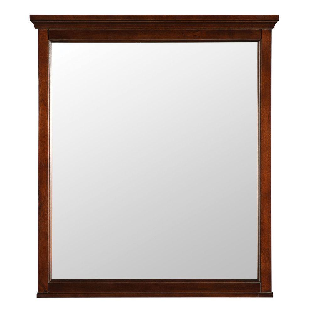 Popular W Wall Mirror in Mahogany framed bathroom mirrors