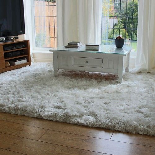 Popular White Ultra Thick Plush Shaggy Rug for master bedroom thick plush area rugs