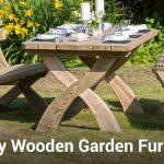 Wooden garden furniture- brilliant method for brightening your garden