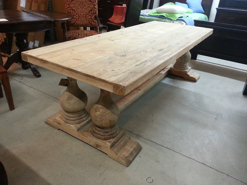 Reclaimed Wood Table ~ Comfy wood dining table and chairs darbylanefurniture