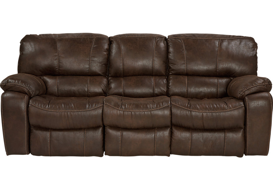 Awesome Cindy Crawford Home Alpen Ridge Brown Power Reclining Sofa reclining microfiber sofa