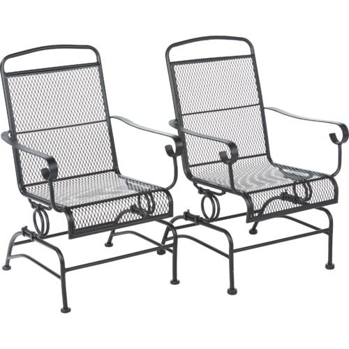 Awesome Outdoor Steel Mesh Patio Rocking Chair Set Lawn